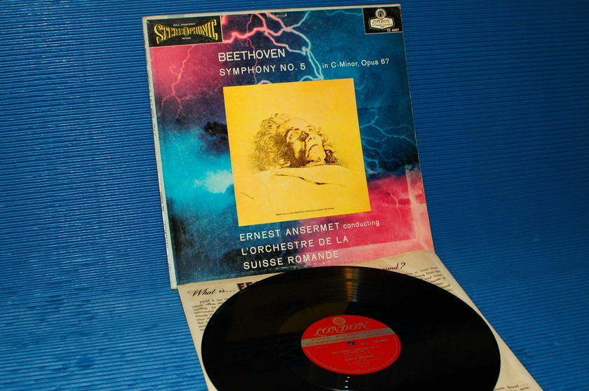 "BEETHOVEN/Ansermet - - ""5th Symphony"" -  London 'Blue Back'  1958 1st pressing"