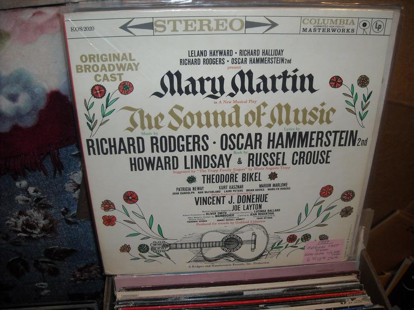 (lec) Original Broadway Cast - The Sound Of Music columbia lp (c)