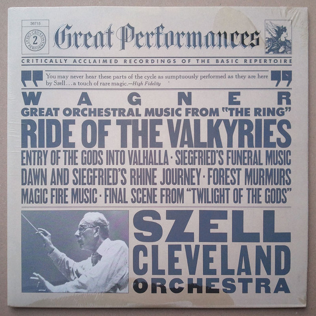 Sealed CBS   SZELL/WAGNER - Great Orchestral Music from The Ring