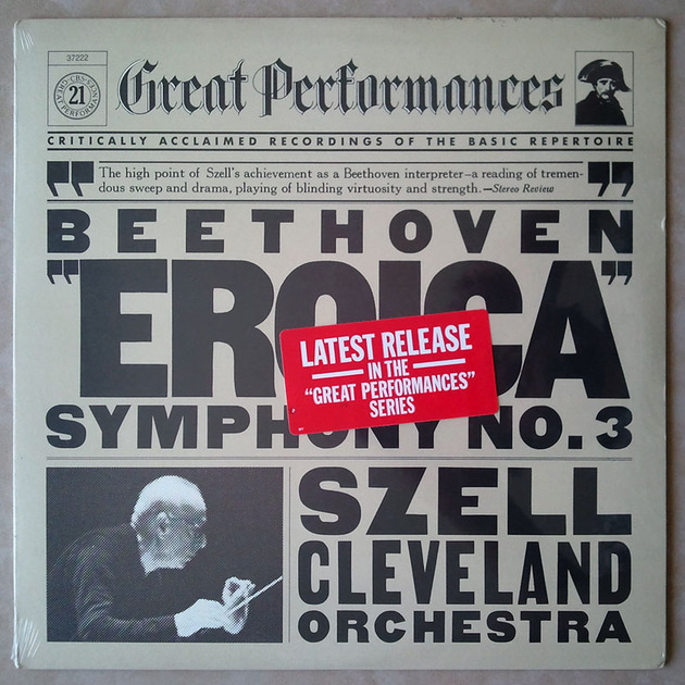 "Sealed CBS | SZELL/BEETHOVEN - Symphony No. 3 ""Eroica"""