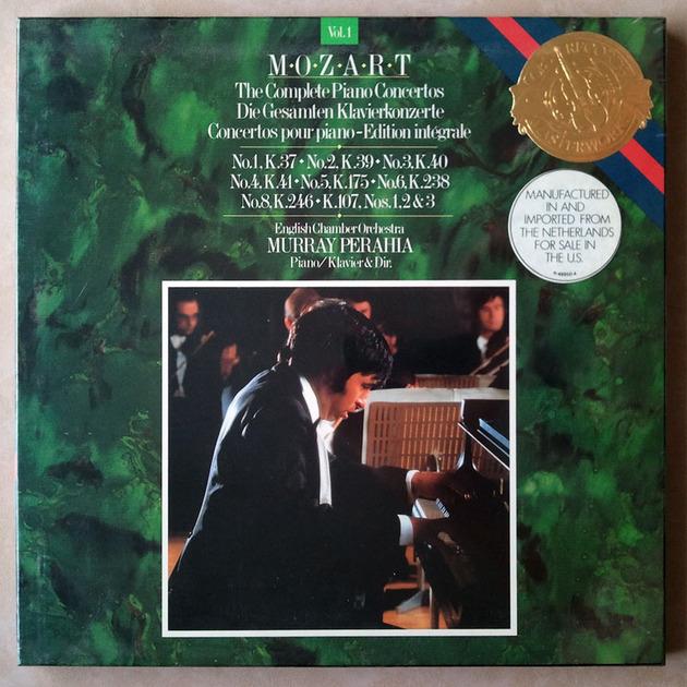Sealed CBS | PERAHIA/MOZART - Piano Concerto Nos. 1, 2, 3, 4, 5, 6, 8, K. 107  / 3-LP Box Set