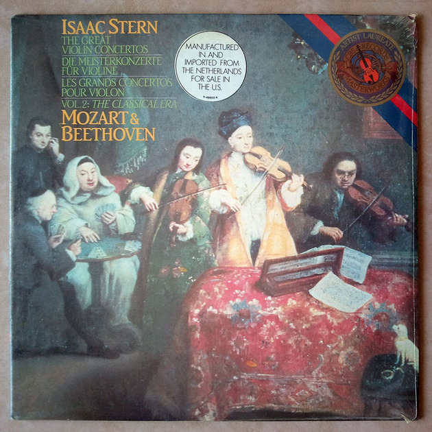 Sealed CBS | STERN/BEETHOVEN - & MOZART Violin Concertos / Imported Pressing
