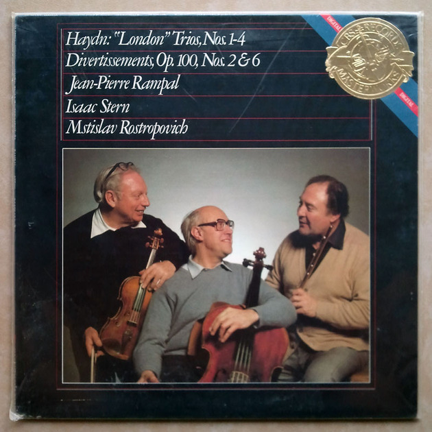 Sealed CBS Digital | ROSTROPOVICH/STERN/RAMPAL/HAYDN - London Trios Nos. 1-4, Divertissements Op.100 Nos. 2 & 6