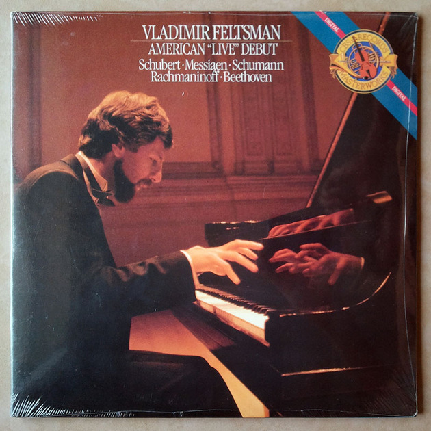 Sealed CBS Digital | VLADIMIR FELTSMAN - - American Live Debut - SCHUBERT - MESSIAEN - SCHUMANN - RACHMANINOFF - BEETHOVEN / 2-LP set