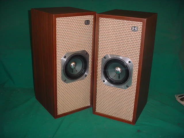 """Fostex 5"""" Full Range NOS early FX-120 style installed in Vintage Lafayette cabinets made in Japan VERY Good sounding!"""