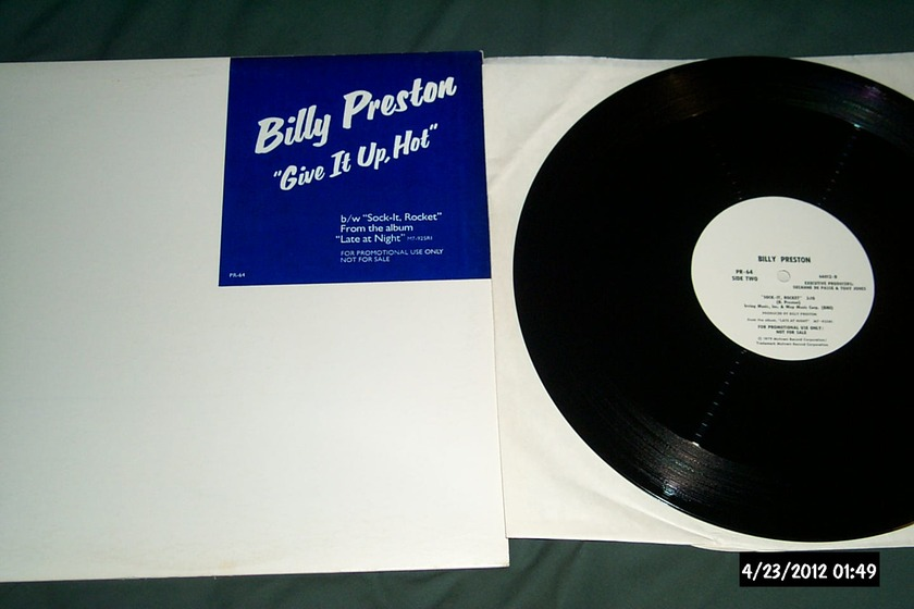 Billy Preston - Give It Up,Hot promo 12 inch single nm