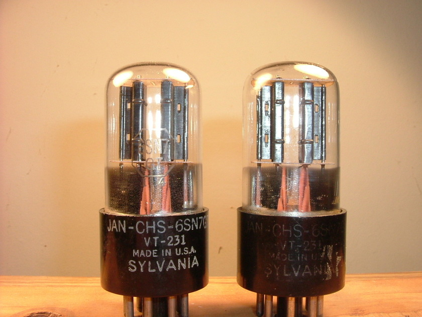 Sylvania military vacuum tubes VT231 CHS 6SN7 GT properly tested and matched