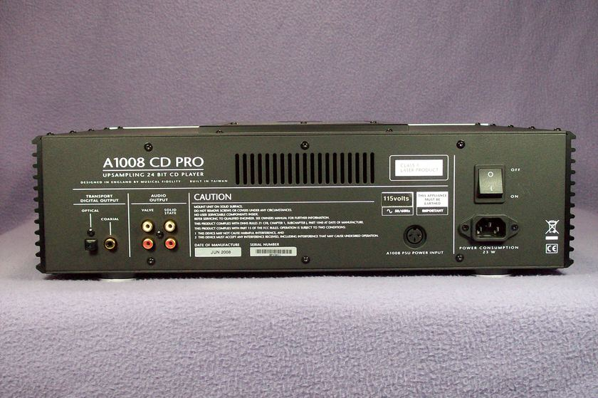 Musical Fidelity A1008 Tube CD Player
