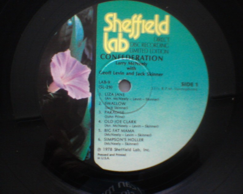 Larry McNeeley - SHEFFIELD LABS NM vinyl lp