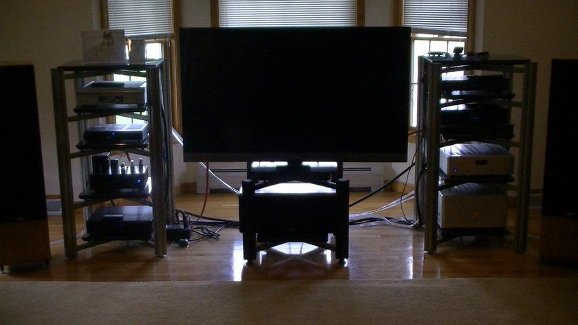 ADONA Monster Rack 5 shelves, Gold color, like new $500 ea./ $900 for both