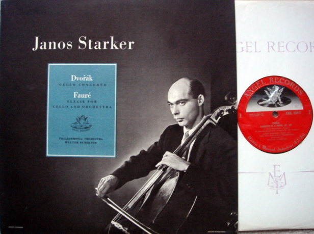 EMI Angel Semi-Circle Mono / JANOS STARKER, - Dvorak Cello Concerto, BN, ORG UK Press!