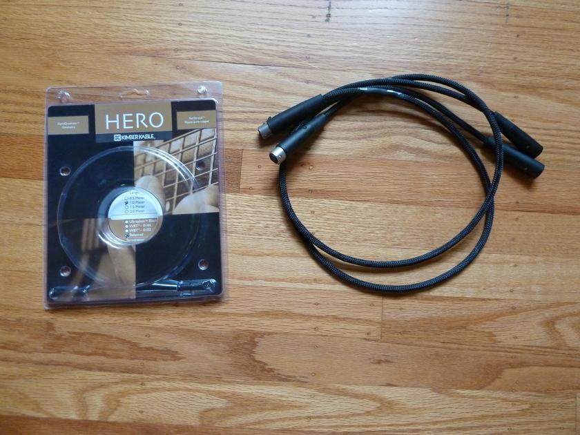 Kimber Hero 1 m Pair XLR