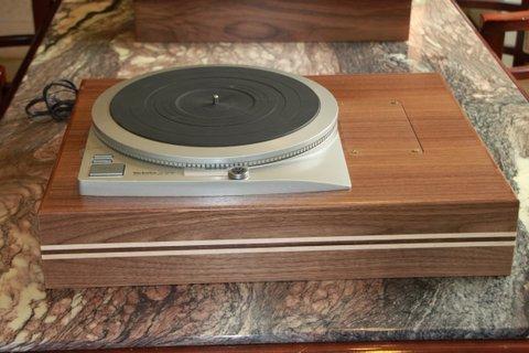 "Technics SP25 Custom Walnut Plinths SP 15/25  6 layer with maple hardwood stripes,  4 1/4"" H"