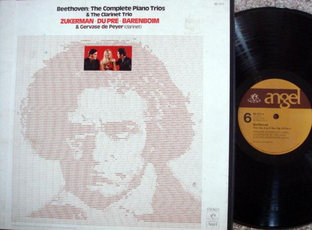 EMI Angel / DU PRE-BARENBOIM-ZUKERMAN, - Beethoven The Complete Piano Trios, NM, 5 LP Box Set!