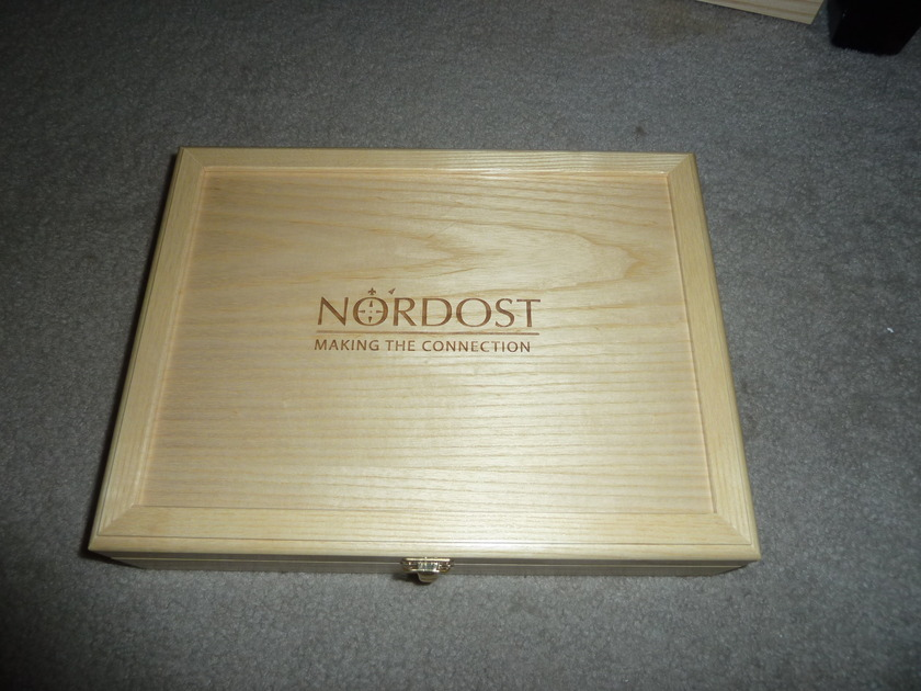 Nordost Tyr series 1 RCA 1m interconnect free ship US 48 save $$$$