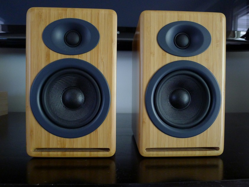 Audioengine  P4 Carbonized Bamboo Speakers