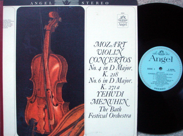 EMI Angel Blue / MENUHIN, - Mozart Violin Concertos No.4 & 6, NM!