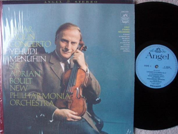 EMI Angel Blue / MENUHIN-BOULT, - Elgar Violin Concerto, NM!