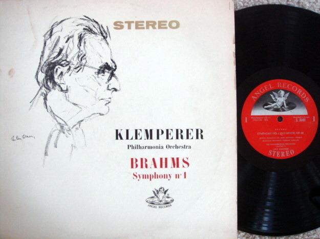 EMI Angel Semi-Circle / KLEMPERER, - Brahms Symphony No.1,  VG+!