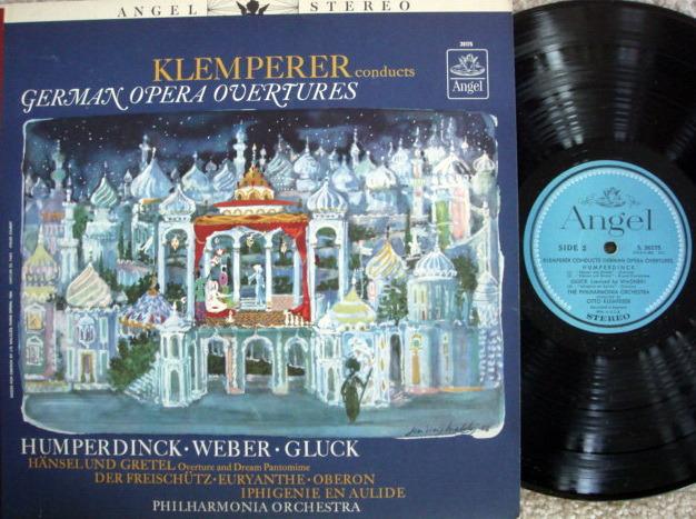 EMI Angel Blue / KLEMPERER, - German Opera Overtures, NM!