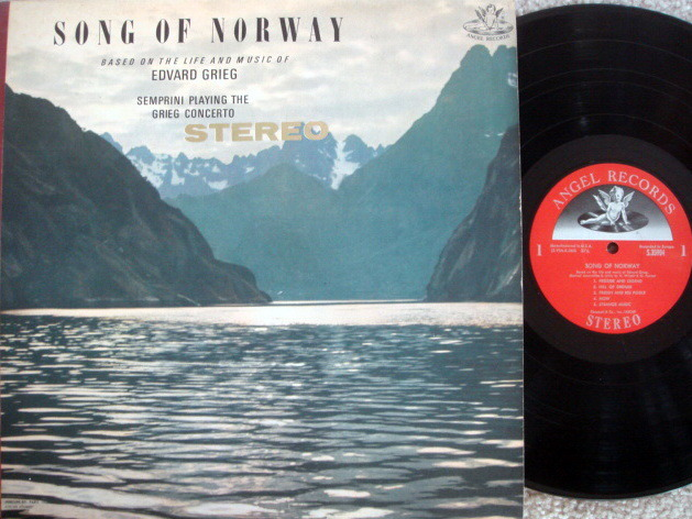 EMI Angel Semi-Circle / SEMPRINI, - Grieg Song of Norway,  NM!