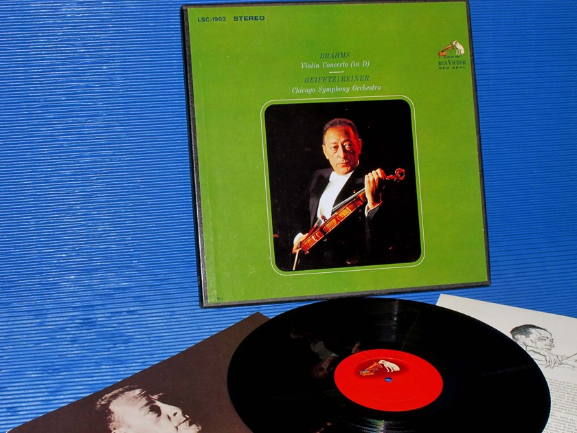 "BRAHMS/Reiner/Heifetz -  - ""Violin Concerto D"" - RCA Shaded Dog 1963"