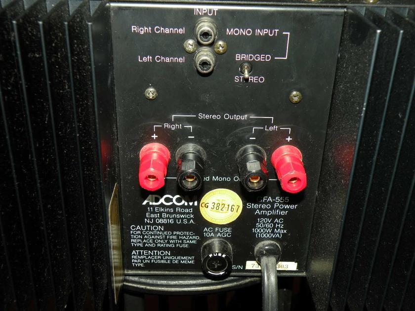 ADCOM GFA 555 POWER  AMPLIFIER