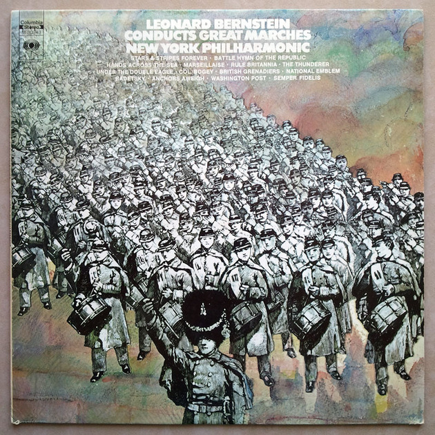 COLUMBIA | BERNSTEIN - conducts Great Marches / EX