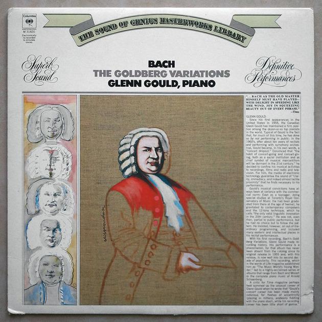 COLUMBIA   GLENN GOULD/BACH - Goldberg Variations / NM