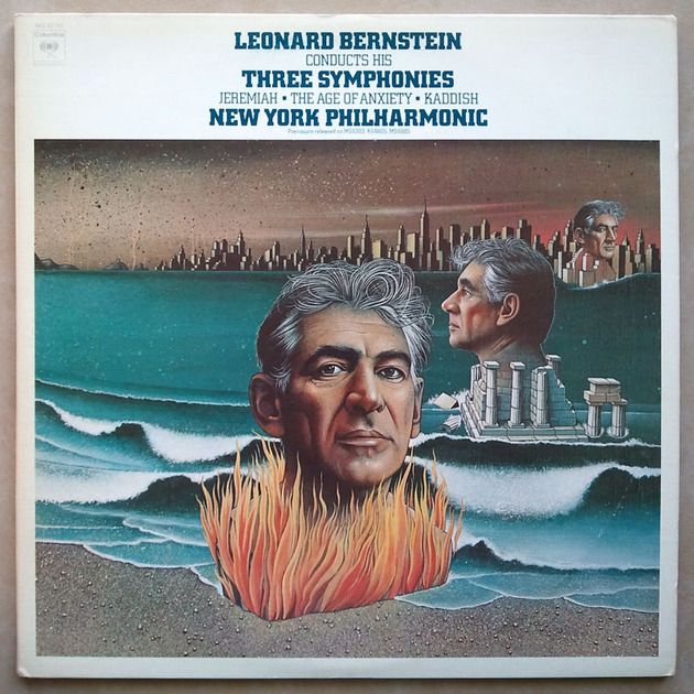 COLUMBIA | BERNSTEIN conducts - HIS Three Symphonies / 2-LP set / NM