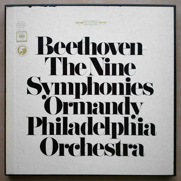 COLUMBIA   ORMANDY/BEETHOVEN - The Nine Symphonies / 7-LP / NM