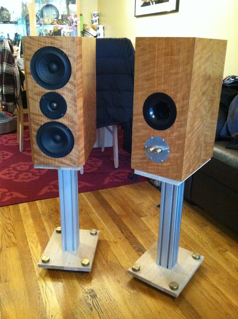 Clearwave Loudspeakers Minuet S52 Curly Cherry MTM mint