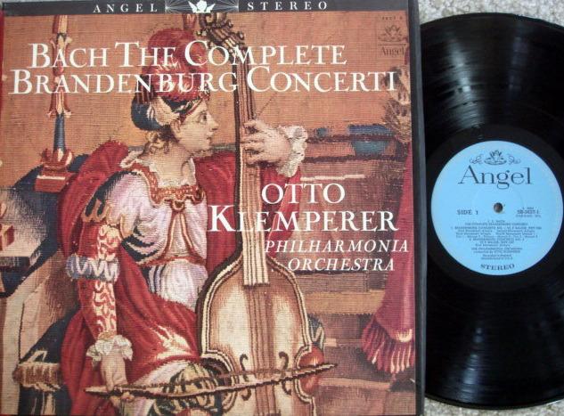 EMI Angel Blue / KLEMPERER, - Bach Brandenburg Concertos, NM, 2LP Box Set!