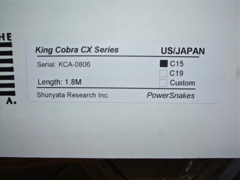 Shunyata Research  King Cobra CX 6ft/1.8m  Power cable