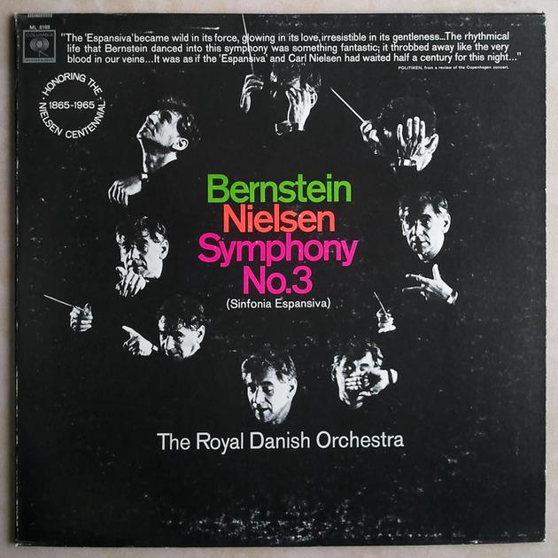 COLUMBIA 2-EYE   BERNSTEIN/NIELSEN - Symphony No. 3 Sinfonia Espansiva / NM