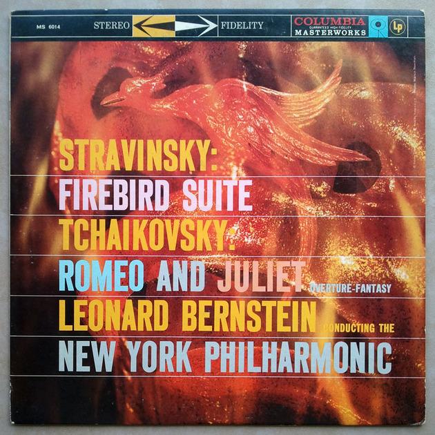 COLUMBIA 2-EYE | BERNSTEIN/STRAVINSKY - Firebird / TCHAIKOVSKY Romeo and Juliet / EX