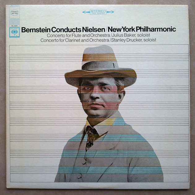COLUMBIA 2-EYE | BERNSTEIN/NIELSEN - Concerto for Flute, Concerto for Clarinet / NM