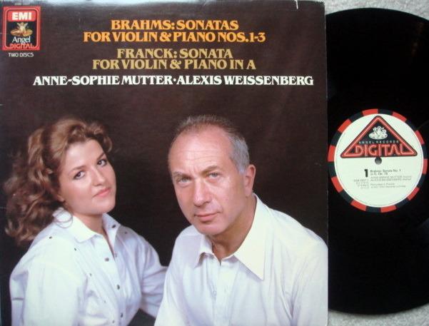 EMI Angel Digital / MUTTER-WEISSENBERG-SANDERS, - Brahms-Franck Violin Sonatas, NM, 2LP Set!