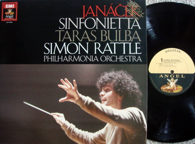 EMI Angel Digital / RATTLE,  - Janacek Sinfonietta, Taras Bulba, NM, Promo Copy!