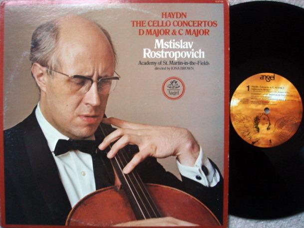 EMI Angel / ROSTROPOVICH-BROWN, - Haydn Cello Concertos, EX!