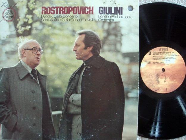 EMI Angel / ROSTROPOVICH-GIULINI, - Dvorak-Saint Saens  Cello Concertos, NM!