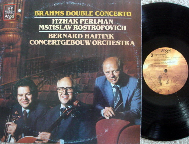 EMI Angel / PERLMAN-ROSTROPOVICH-HAITINK, - Brahms Double Concerto, NM!