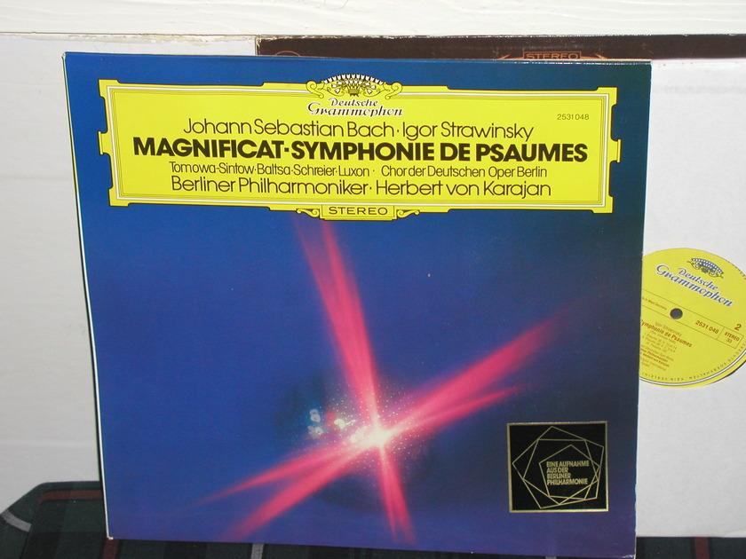 Von Karajan/BPO - Bach/Stravinsky DG german import  press