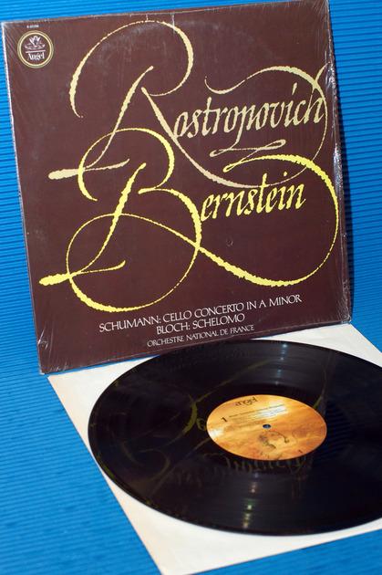 """ROSTROPOVICH/Bernstein -  - """"Perform Schumann & Bloch"""" -  Angel Quad 1977"""