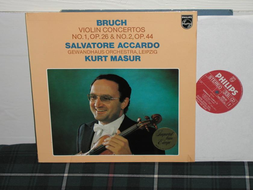 Accardo/Masur/GOL - Bruch Violin Ctos. (Pics) Philips Import LP 9500