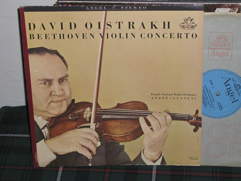 Oistrakh/Cluytens/FNRO - Beethoven Violin Cto Blue/Silver Angel LP from 60's.