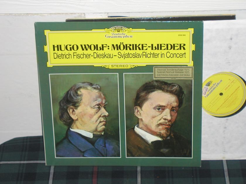 Fischer-Dieskau/Rich - Wolf DG german import  press