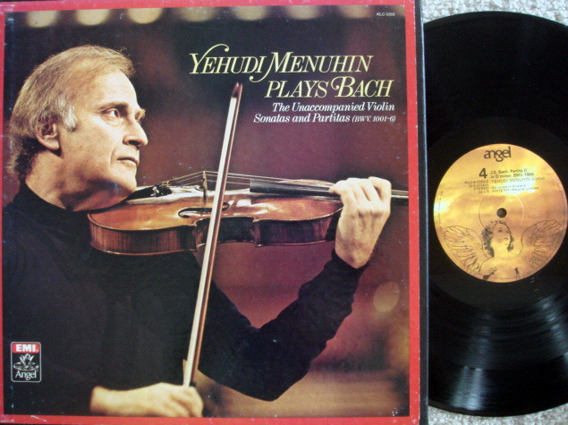 EMI Angel / MENUHIN, - Bach Uncompanied Violin Sonatas & Partitas, NM, 3LP Box Set!