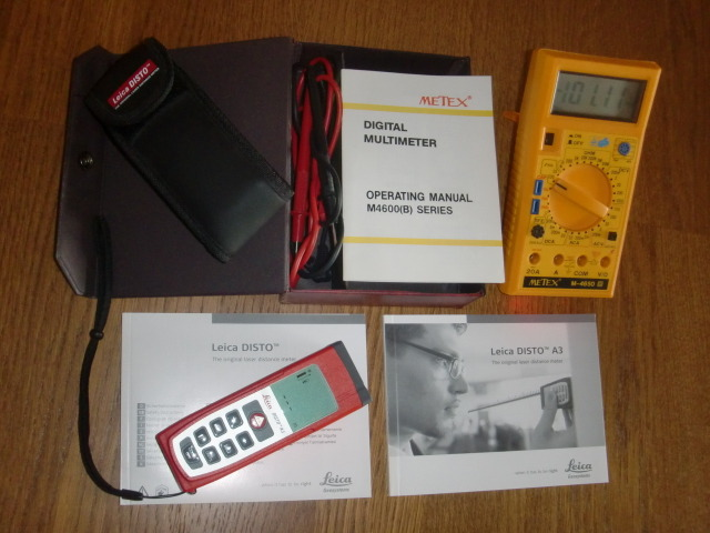 SERIOUS AUDIO TOOLS FOR HI FI ENTHUSIASTS/ LEICA DISTO A3 laser distance meter & METEX digital multimeter both in AS NEW condition & at half price!!!