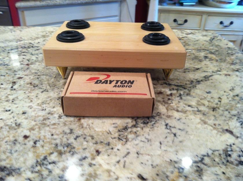 "MAPLE AMP/CONDITIONER BOARD with DAYTON CONES and VIBRAPODS  9"" x 12"" x  2"""